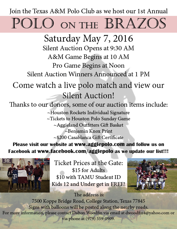 Polo on the Brazos Flier